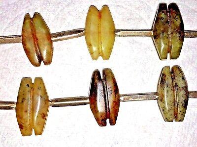 Antique Pre Columbian Jade & Silver Necklace Pendant Snag Design 8