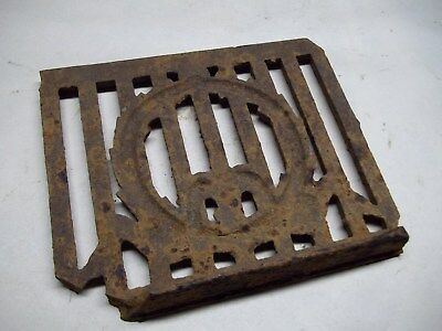 Broken part of antique furnace or stove vent or grate ? with design 9
