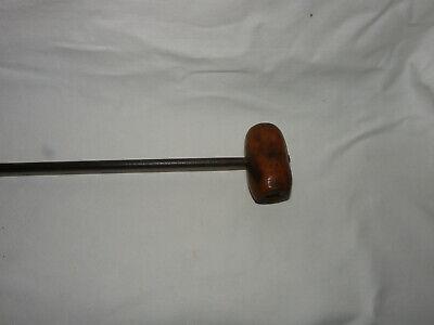 Alter handgeschmiedeter Handbohrer Bohrer Eisen und Holz 3