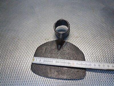 alte geschmiedete Hacke Feldhacke Gartenhacke  bäuerliches Werkzeug - 330 gr 8