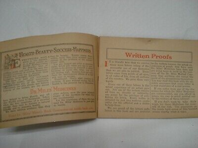 1920'S Dr Miles Written Proofs Quack Medicine Tract Booklet 3
