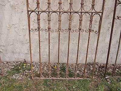 Antique Victorian Iron Gate Window Garden Fence Architectural Salvage Door #333 4