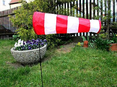 1,50 Meter 1,80 Meter  Windsock YAKAIR Avion Windsack Rot Weiß 36cm 70cm