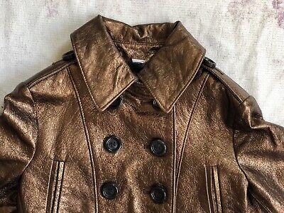BURBERRY Children Mädchen Jacke Leder Gr.122 6-7 years girls leather jacket belt 3