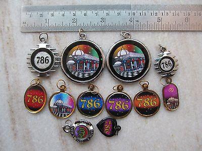 Tribal Ayaat Quran Islamic Holy Spiritual Metal Amulet Necklace Pendent Lot 12P 7