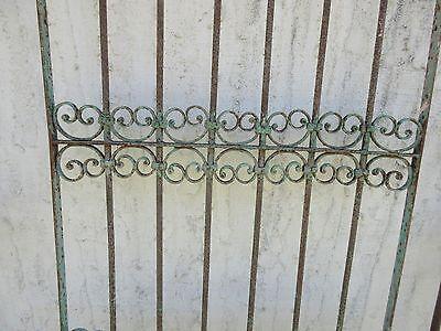 Antique Victorian Iron Gate Window Garden Fence Architectural Salvage Door #382 3