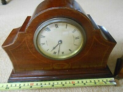 Vintage Mahogany Mantle Clock 8 Day Movement with Platform Escapement & another 2