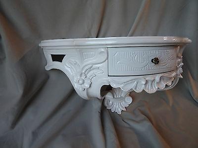 Wall Console Antique/Spiegelkonsolen/Baroque White High Gloss B: 50cm cp84 6