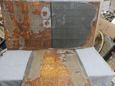 100 Sq Feet Salvaged Antique Tin Ceiling Decorative Pattern Old Vintage 148-16