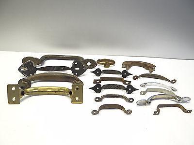 Antique Vintage Mixed Lot Wood Metal Iron Brass Cabinet Door Pulls Handles Parts 10