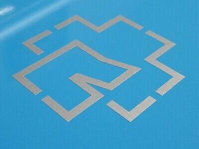 Rammstein - Aufkleber / Sticker - 5 cm x 5 cm - silber oder anthrazit 2