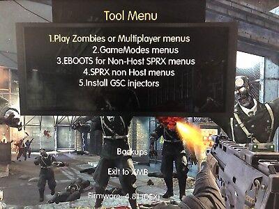 PS3   3 55 Jb Ps3   4 81 Rebug   Online Ready  14 Games  100+ Menus Gtav  Cod  