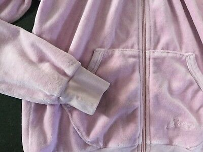 """NWT Juicy Couture New & Genuine Girls Age 8 Lilac Velour Hoody With """"J"""" Pull 4"""