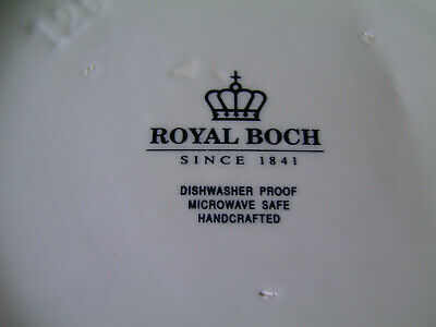 "Weiße Apotheker - Dose , gemarkt "" ROYAL BOCH""  d = 15 cm ; h = 16 cm 4"