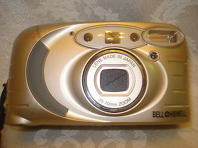 BELL HOWELL PZ2200 35mm FILM  POINT AND SHOOT CAMERA 35-70mm LENS/ LEATHER CASE 4