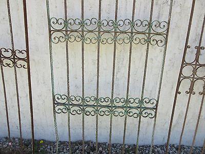 Antique Victorian Iron Gate Window Garden Fence Architectural Salvage Door #382 4