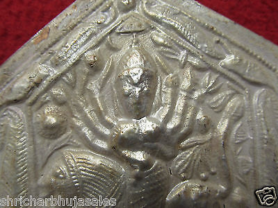 """Indian Tribal Goddess Kali Copper On Silver Plated Amulet Pendant Necklaces 4.7/"""""""