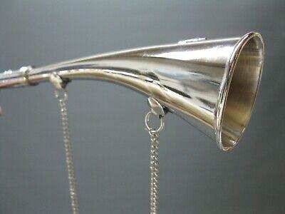 Silbern  Stethoskop Hörrohr Hearing Pipe Hörmaschine Ear Trumpet 23 cm mit Kette 11