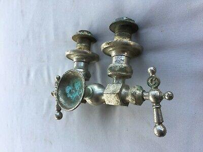Antique Nickel Brass Claw Foot Bathtub Faucet Old Vtg Haydenville Co. 235-19J 6