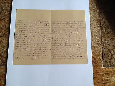 1886 --Meia cara Nicoletta (4 Page signed letter w/Envelope, Napoli, Cento Baci 3