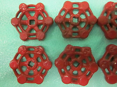 """Lot of 7 Matching Cast Iron 2-1/16"""" Dia. Steampunk Valve Handles Water Knobs 2"""