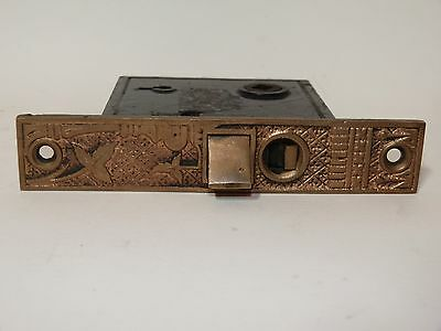 Broken Leaf Exterior Entry Door Mortise Lock Cast Iron Brass Victorian Lockwood 2