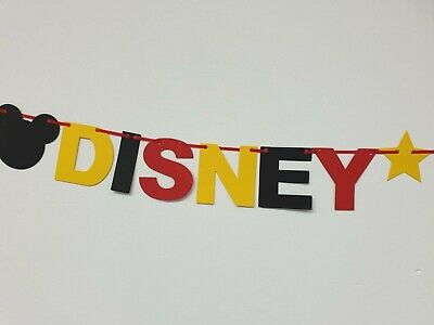 DISNEY REVEAL SURPRISE BANNER BLACK RED YELLOW Were off to Disneyland here we go 8