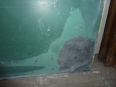 "antique ORIGINAL circa 1920's schoolhouse SLATE chalkboard 62.5"" x 42"" UTICA, NY"