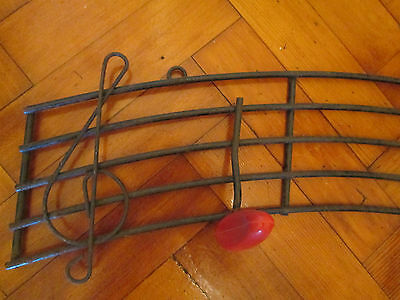 Vintage French 50s musical notes wall hooks 2