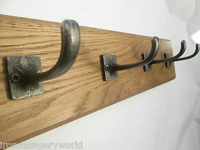 9 sizes SOLID OAK WOODEN COAT RACK HOOKS HANGER UTILITY KITCHEN RAIL RACK 84