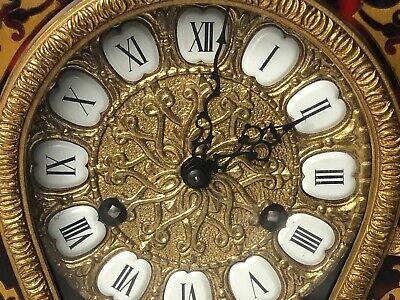 1 Large Antique Louis XVI French Style Gilt Ormolu Boulle Mantle Clock 3