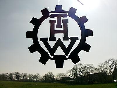 LOGO aus Stahl, --THW-- Technisches Hilfswerk D=40cm 3mm Hilfsorganisationen 4