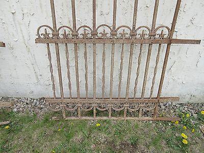 Antique Victorian Iron Gate Window Garden Fence Architectural Salvage Door #313 5