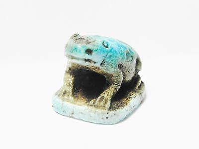 Zurqieh -Q197- Ancient Egypt , Beautiful Faience Frog. 1075 - 600 B.c 3