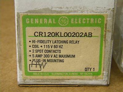 General Electric Cr120Kl00202Ab Latch Relay Nib