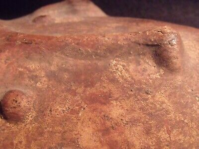 "Antique Pre-Columbian 9 1/4"" Pottery Face Mask 8"