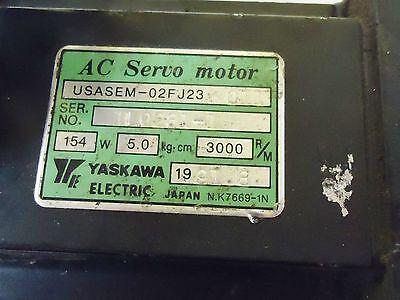 Yaskawa Electric Ac Servo Motor Type/model# Usasem-02Fj23  011,154W S/n 1L628L-1 2