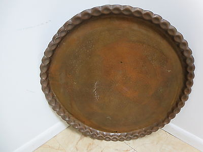 Mid Century Brass Etched Tray Lamp End Table Top 4