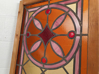 Vintage Stained Glass Window Panel (3052)NJ 6