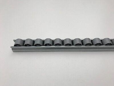 Röllchenleiste Röllchenschiene mit Kunststoffröllchen Ø 28 mm grau