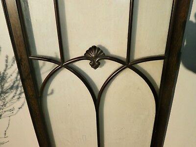 Pair of antique Cuban Mahogany astral glazed cupboard doors 10