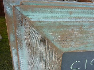 early 20th century schoolhouse SLATE chalkboard salvaged wood FRAME 45.5 x 30.75 3