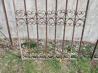 Antique Victorian Iron Gate Window Garden Fence Architectural Salvage Door #327 4