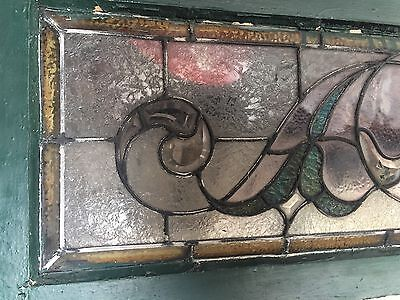 Great Old Buffalo Floral Transom Window 7