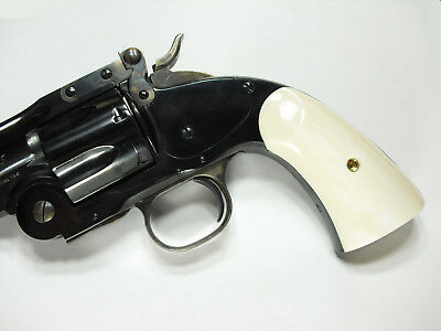 UBERTI SCHOFIELD AGED IVORY GRIPS CIMARRON NAVY ARMS STOEGER