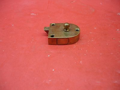 Vintage Antique Original Concealed Release Trigger Brass Latch Hardware 4