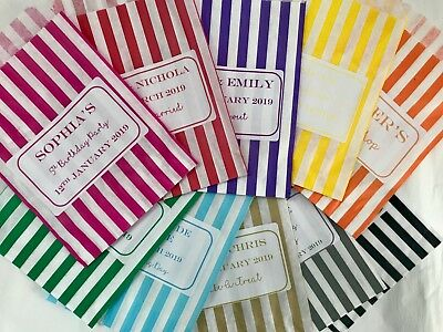 Personalised Sweet Bags Striped Candy Wedding Favour