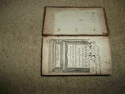 Rare 1651 Medulla Theologica Book - Leather Cover