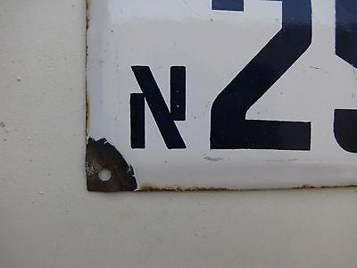 vintage ISRAELI enamel porcelain letter and number א 25 house  sign # 25 א 4