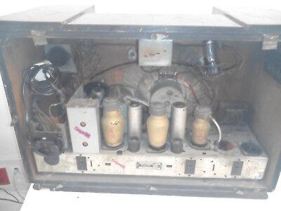 Radio vintage de madera Philips años 40 3